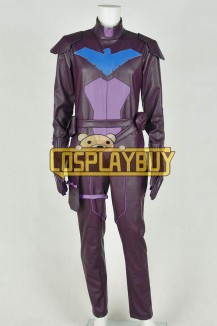 Young Justice Cosplay Nightwing Costume Purple Jumpsuit